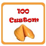 100 Custom Fortune Cookies