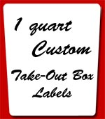 (Large 1 quart take out box white labels)