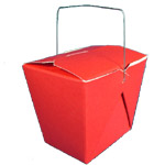(Small) Chinese Take-Out Boxes (red)